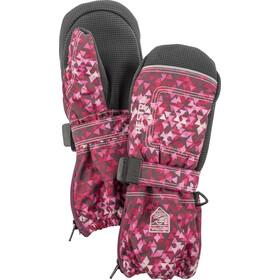 Hestra Baby Zip Long Rękawiczki Dzieci różowy/czarny